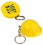 Hard Hat Key Chain Stress Balls